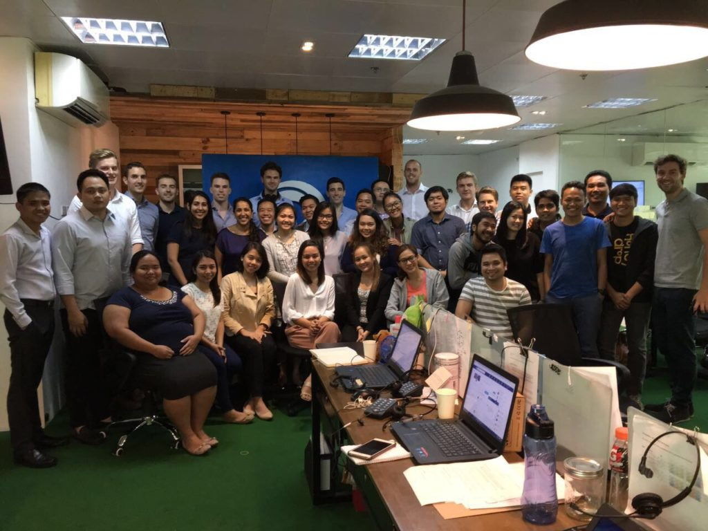 The staff of First Circle, plus Accion Venture Lab's Tahira Dosani and Srishti Kedia