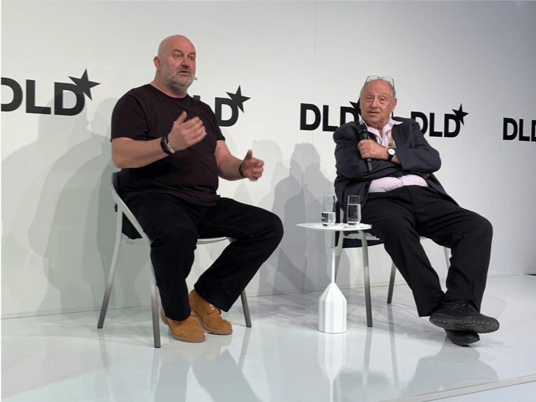 Werner Vogels, Chief Technology Officer of Amazon with DLD co-founder Yossi Vardi.