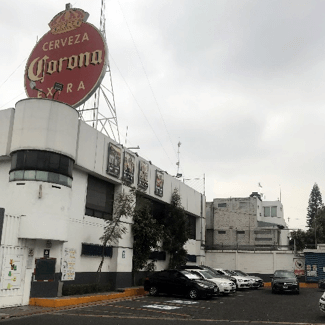 A beer distribution facility in Mexico City